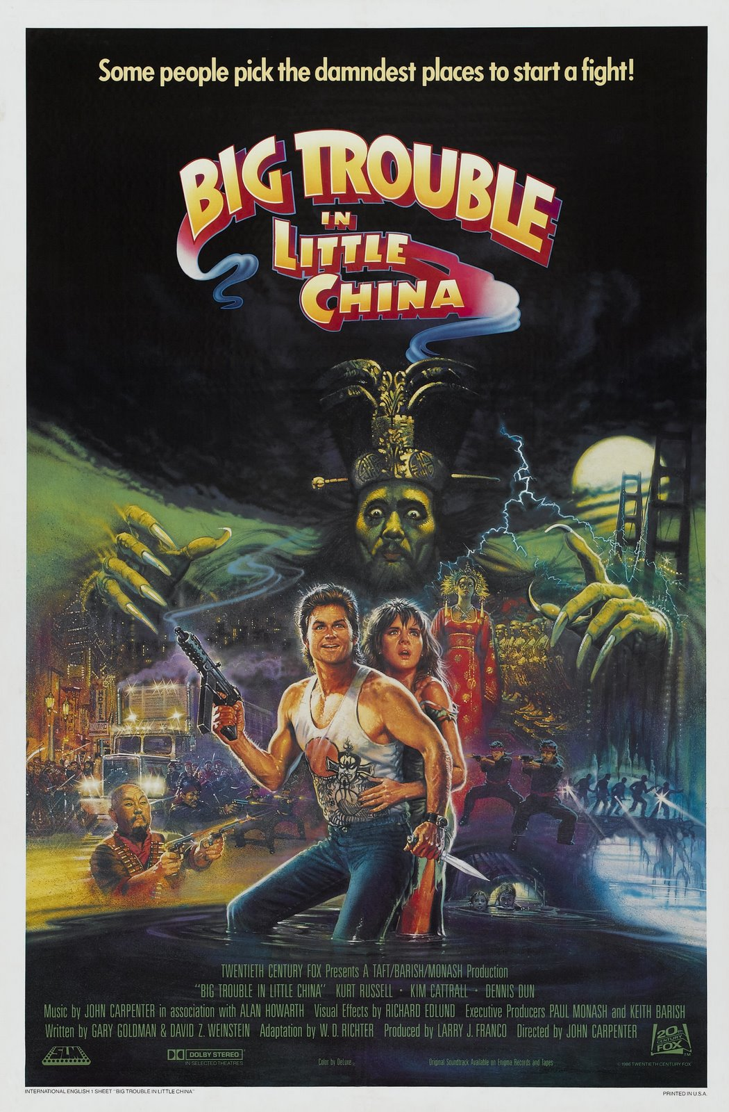 Big Trouble in Little China poster 2 | GOO Reviews