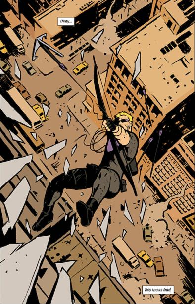 Hawkeye - Comic Falling
