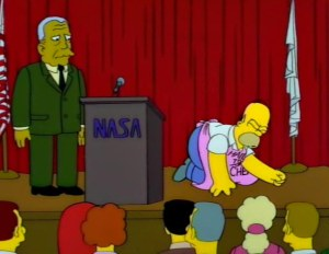 """""""The only danger is if they send us to that horrible Planet of the Apes.  Wait a minute... Statue of Liberty... that was our planet!"""""""