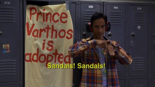 Community s5-Abed sandals