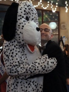 Dalmation suit = the Dean's dreams coming true.