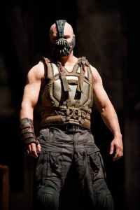 It's ironic how much Tom Hardy's Bane looks like a villain from a Mad Max movie.