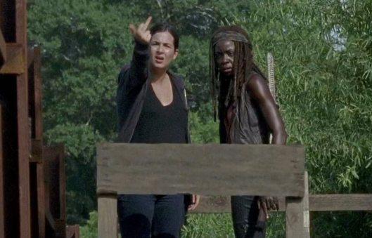 "While all the way, Tara's flashing her middle finger, going ""do-do-do-do-doo, do—"