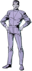 Oh yeah, and he was literally purple. And wore purple clothing.